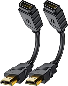 HDMI Extension Cable, Short Hdmi Male to Female Adapter Converter RFAdapter for Roku Streaming Stick, Fire TV Stick, Google Chrome Cast, Laptop, HDTV, PS3/4, Xbox360 and PC (2-Pack, 6inch)