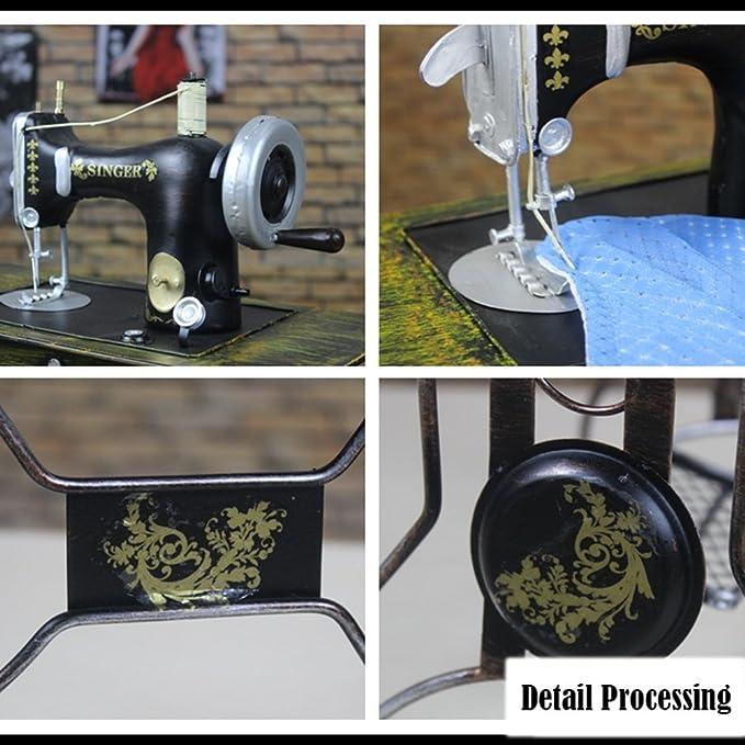 Goney Artesanía Creativa Vintage Máquina de Coser de Hierro Forjado Decoración de Modelo Decoración Accesorios de Fotografía Joyería Aplicable a Tiendas de ...