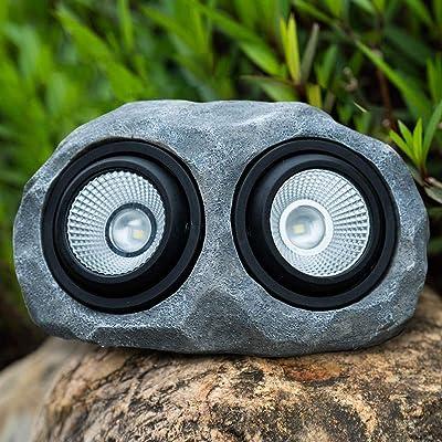 Melunar Solar Rock Lights Outdoor, LED Solar Waterproof Stone Light for Garden, Decor, Ground, Patio, Pathway, Walkway, Driveway, Yard (Double Head Landscape Rock Light) : Garden & Outdoor