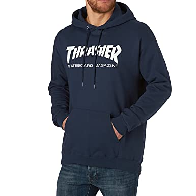 d05ad131620e Thrasher Skate Mag Hoodie - Navy at Amazon Men's Clothing store: