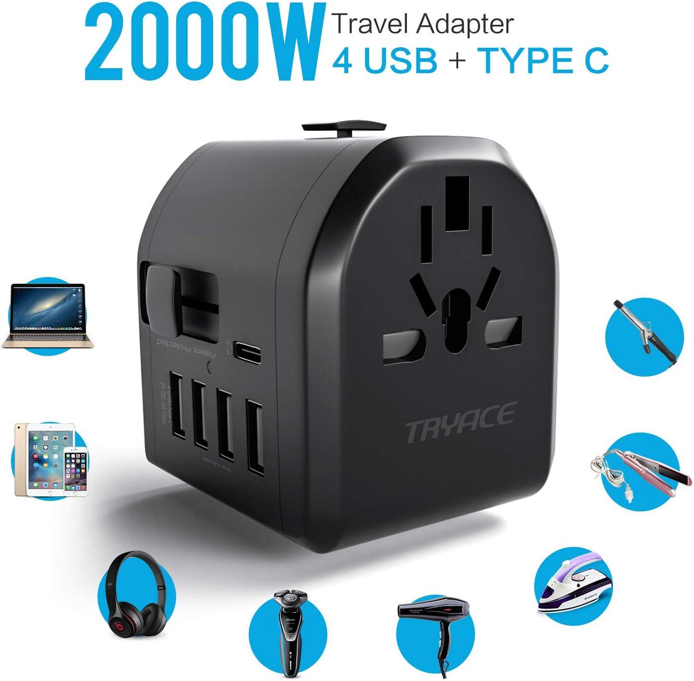 TryAce Convertidor de Voltaje de 2000 W para secador de Pelo ...