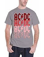 AC/DC Herren T Shirt Grau Fade Highway To Hell band logo offiziell
