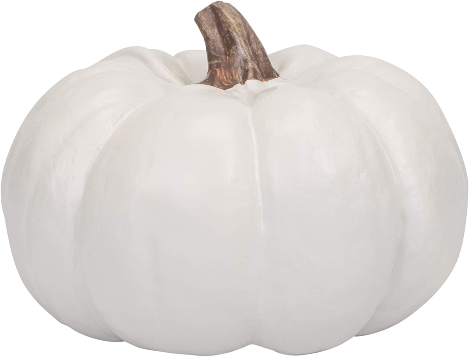 Elanze Designs Classic White 6 inch Resin Harvest Decorative Pumpkin