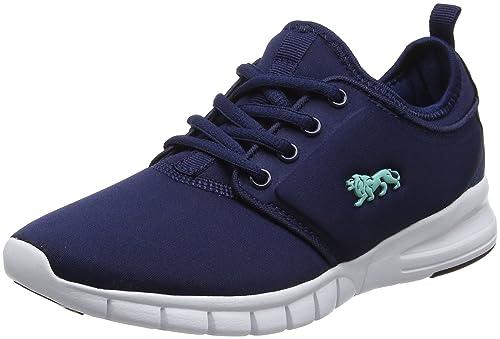Lonsdale Propus, Zapatillas Deportivas para Interior para Mujer, Azul (Navy/Mint), 40 EU