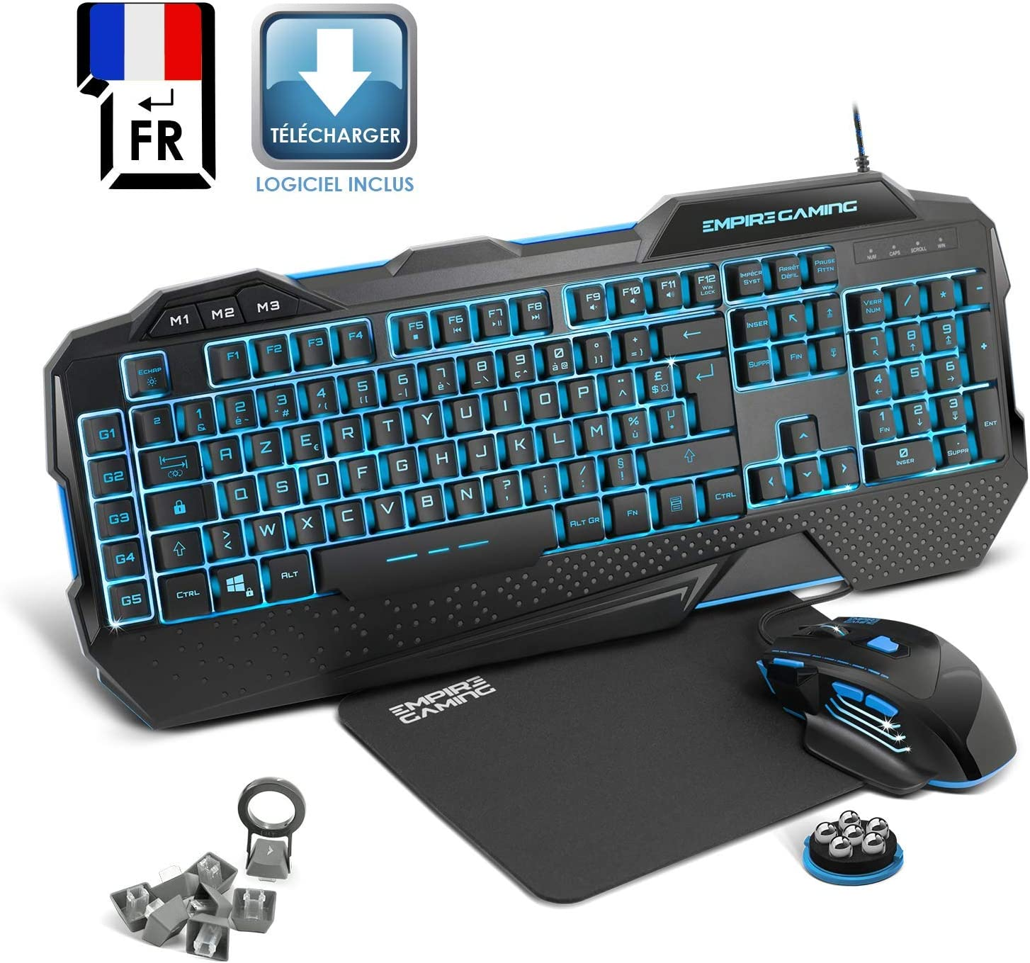 EMPIRE GAMING - Nouveau - Pack Gamer PC Hellhounds - Pack Clavier ...
