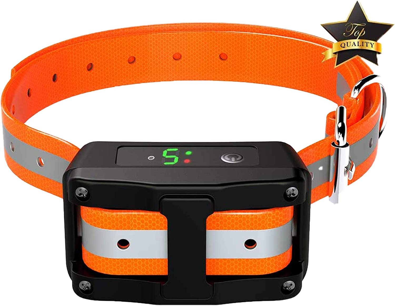 Automatic /& Fixed Mode Anti Barking Collar with 6 Adjustable Intensity Vibration Harmless Shock for Small Medium Large Dogs lexvss Dog Bark Collar Dual Triggering No Bark Collar with Beep