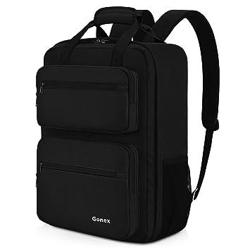 Gonex 35L - Mochila de Viaje, Resistente e Impermeable, con Varios Bolsillos, para Viajes, Senderismo, Camping, Color Negro: Amazon.es: Deportes y aire ...