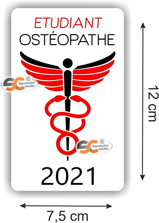 ADP Type de pose Vitrophanie* - Fabrication Fran/çaise Auxiliaire de Pu/ériculture Caduc/ée 2021 se colle sur le pare-brise /à lint/érieur du v/éhicule Sticker//Autocollant SC /®