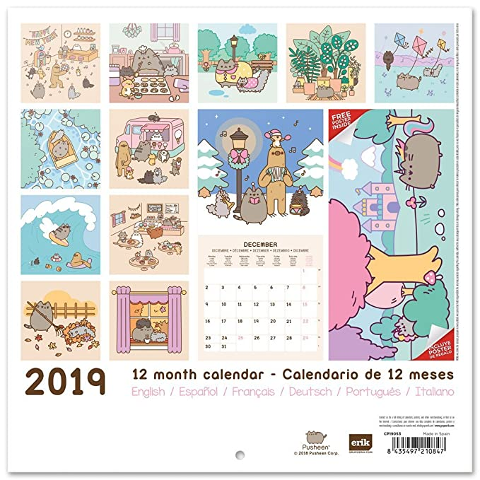 Amazon.com : Grupo Erik editores Pusheen The Cat - Calendar ...