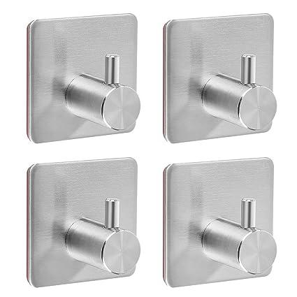 Self Adhesive Bathroom Hooks 4 Pack Of Stainless Steel Hooks Heavy