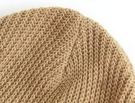 DEELIN Hombres Mujeres Holgados Crochet Caliente Invierno Lana ...