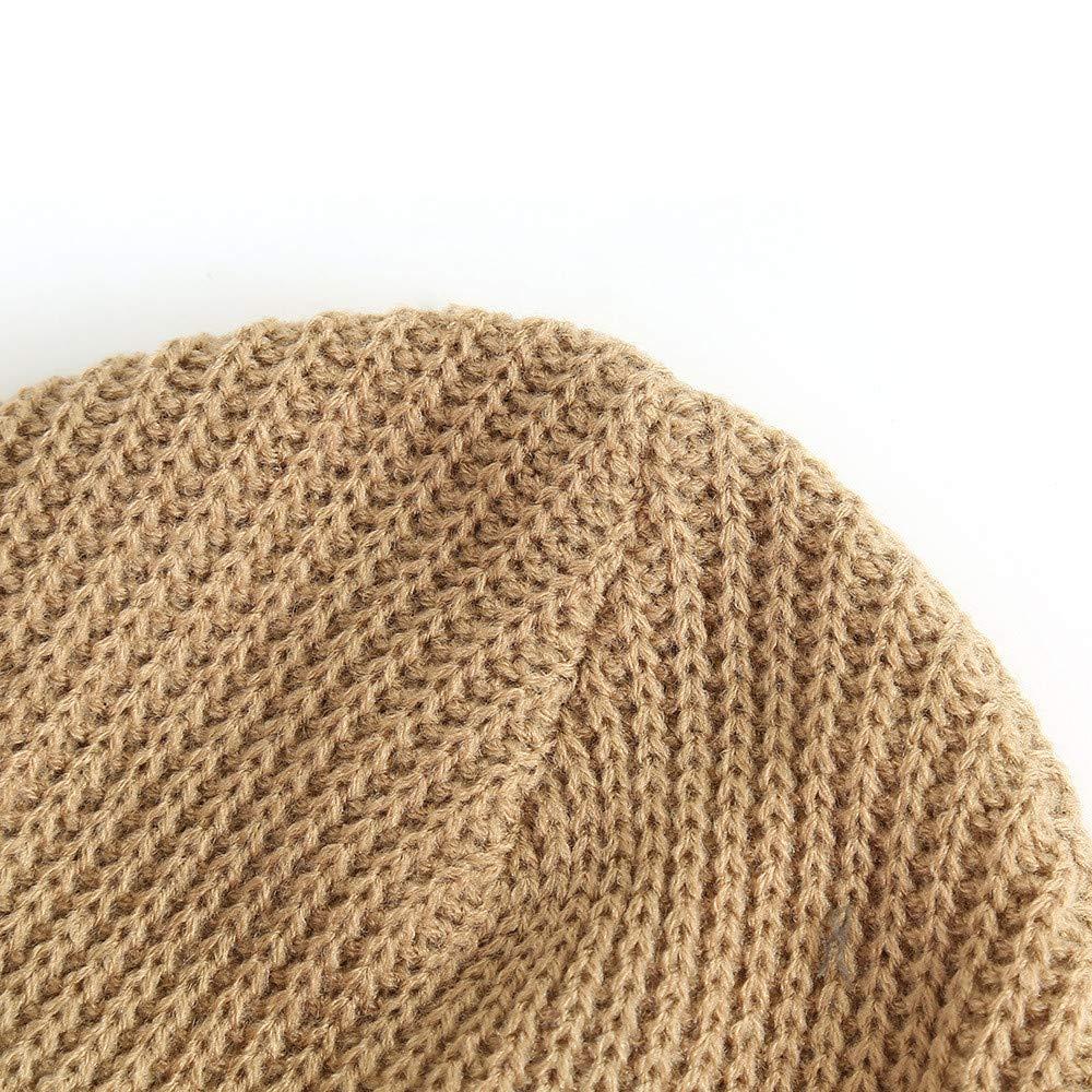 DEELIN Hombres Mujeres Holgados Crochet Caliente Invierno Lana Tejer Esquí Beanie CráNeo Slouchy Gorras Sombrero Corto Doble Capa Gruesa Lingotes De Esquí ...