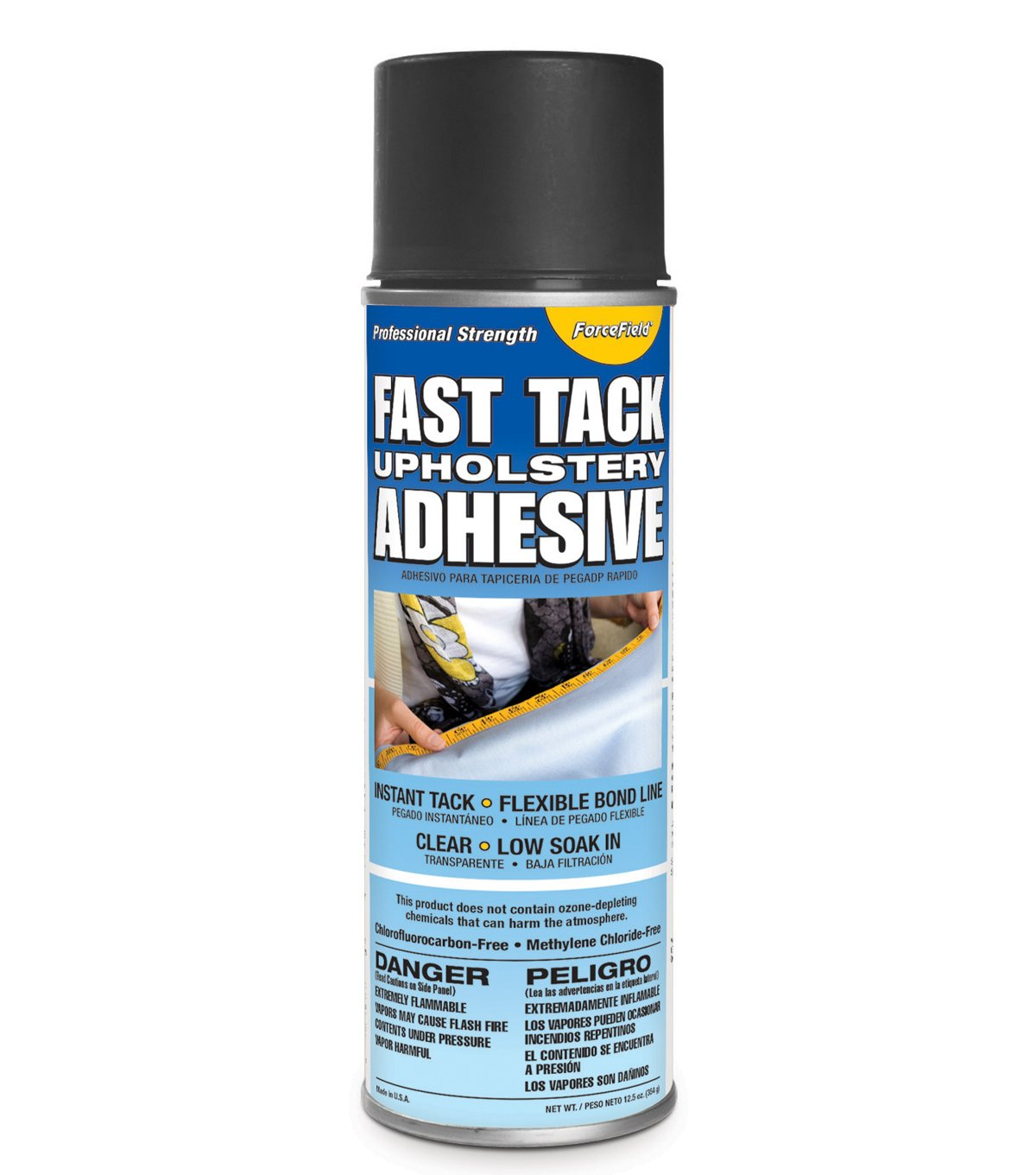 ForceField Fast Tack Upholstery Adhesive Professional Strength 12oz Spray