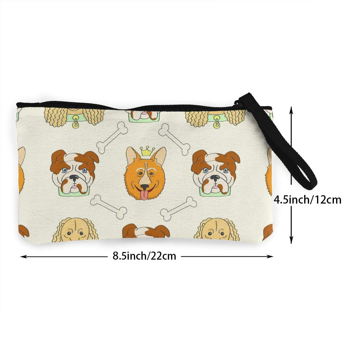 Make Up Bag Cellphone Bag With Handle DH14hjsdDEE Cachorros Padrao Fundo zipper canvas coin purse wallet
