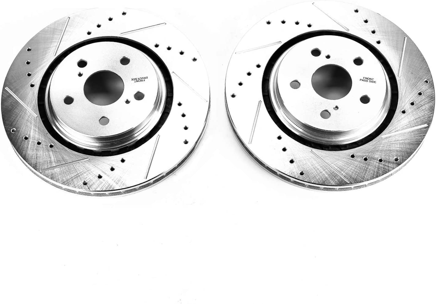 Power Stop JBR1730XPR Drilled and Slotted Front Brake Rotor Pair