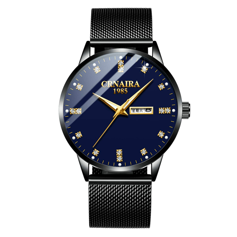 腕時計 メンズ 超薄型 7MM ククラッシー Croaira 腕時計 月 50mm 生活防水 男性女性用