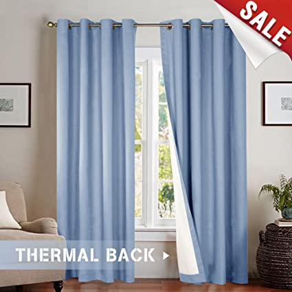 by curtains blackout insulated inch grommet triple patio solid draperies thermal curtain weave energy for saving grey midsummer town single cvb panels panel op