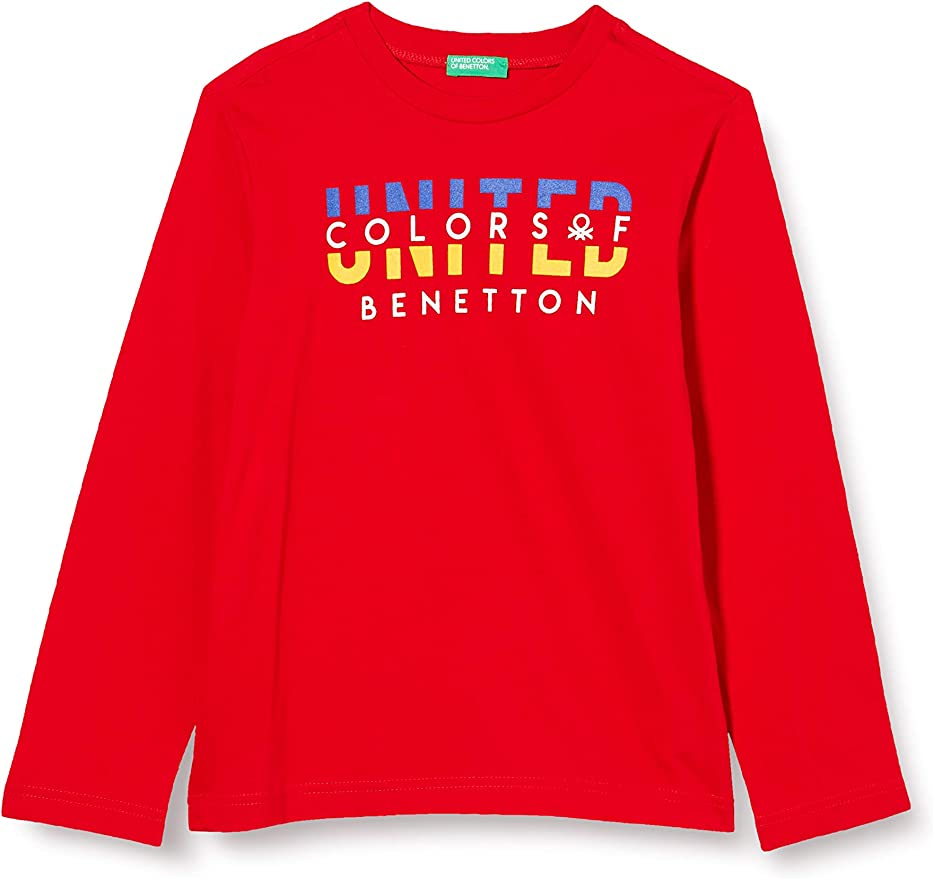 Descanso Salida Mínimo  United Colors of Benetton Camiseta para Niños: Amazon.es: Ropa y accesorios