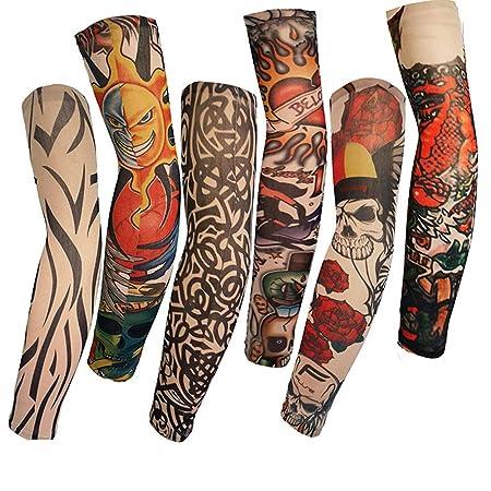 Mzqaxq Tattoo Sleeve Tatuajes 6Pcs Patrón De Calavera Tatuaje ...