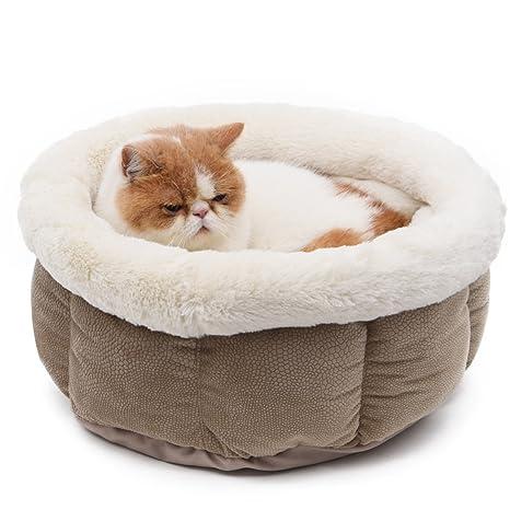 PAWZ Road Perro Gato Cama Forro Polar Suave Mascota Gato Cueva para Animales pequeños