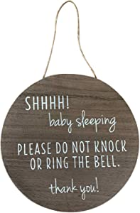 """KIND FATE Baby Sleeping Sign for Front Door I Do not Knock or Ring The Bell 