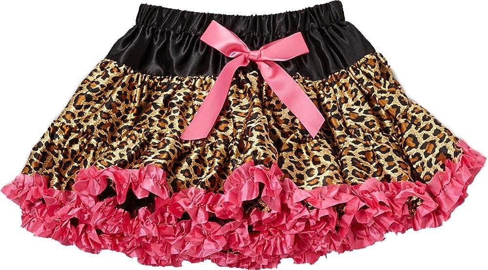 wenchoice Girl's Hot Pink Leopard Satin Pettiskirt