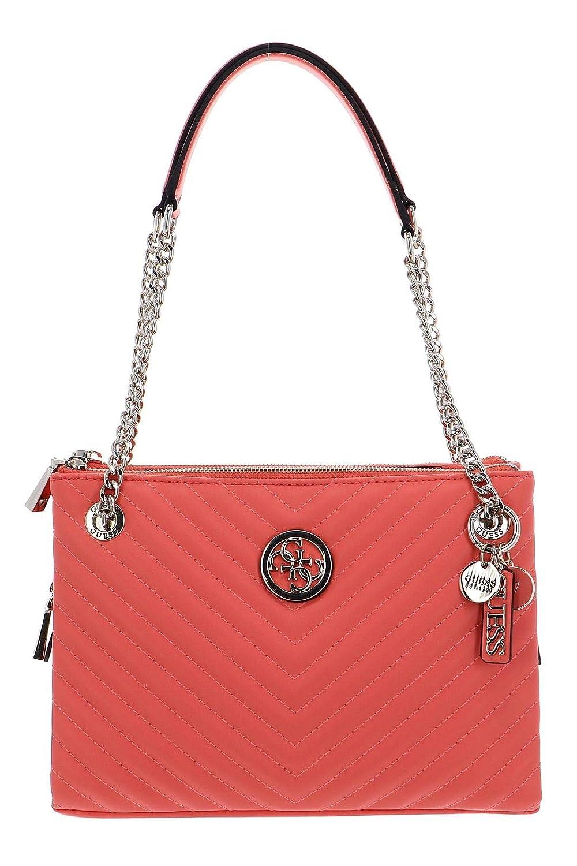Borsa shopping Guess Blakely Girlfriend status luxe satchel ecopelle trapun Dimensioni borsa Media