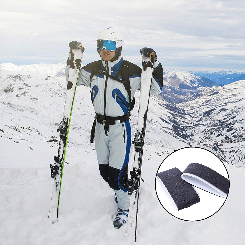 Durable Hook and Loop Ski Strap Pair Ski Straps Fastener Tape Adjustable Ski Wraps Ties for Narrow and Wide Fat Powder Skis N//W 8 Pcs Ski Fastener Straps