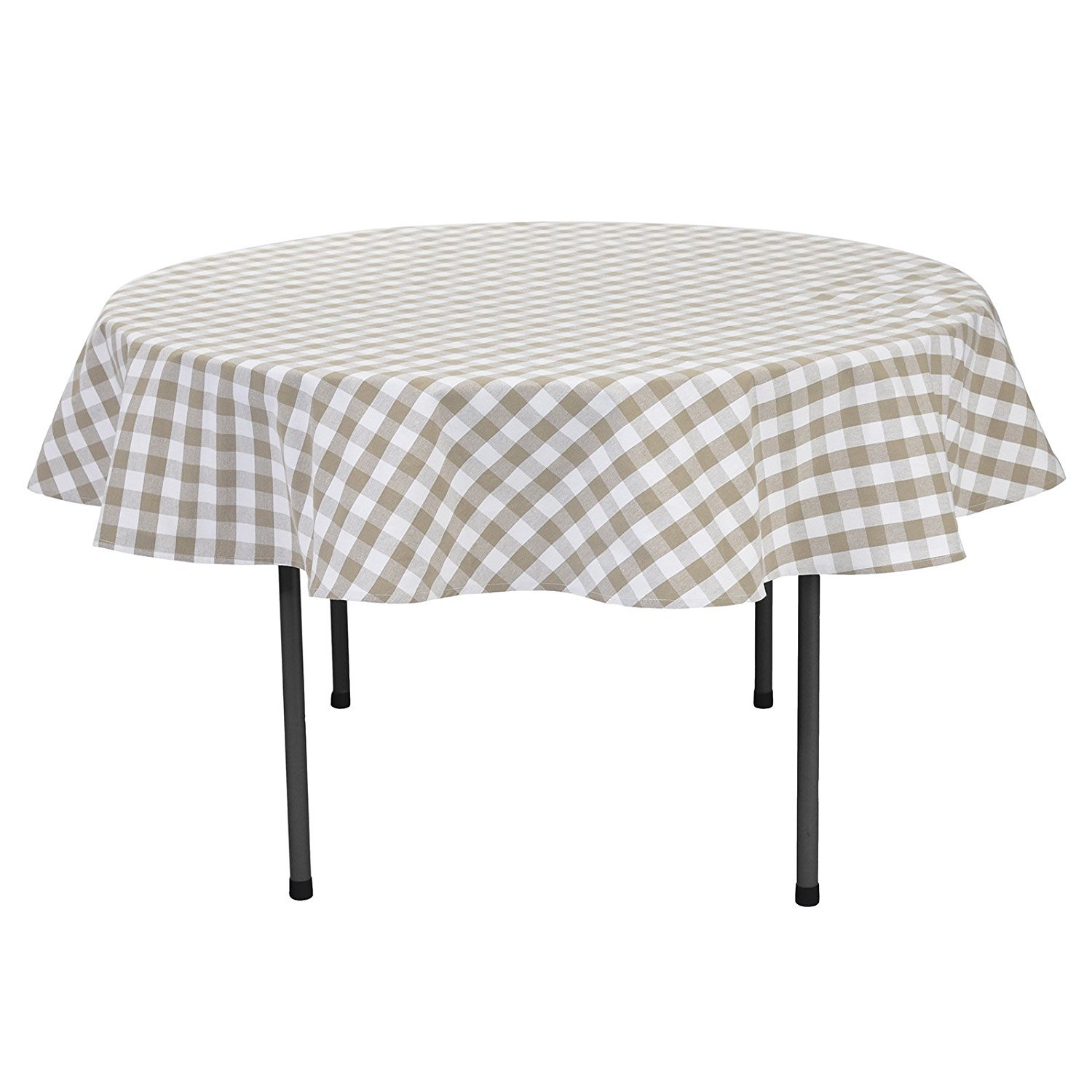 VEEYOO Square Plaid Check Tablecloth Gingham 100% Cotton for Home Kitchen Party Indoor or Outdoor Use 52 x 52 inch (Seats 4 People), Lime & White VYZB1610CT52CP1SP06-FBA