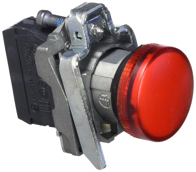 2 250V Schneider XB4BV64 Leuchtmelder 4W Lampensockel BA 9S rot
