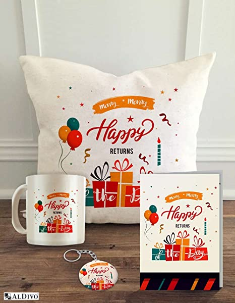 buy aldivo combo of cushion cover with filler printed coffee mug