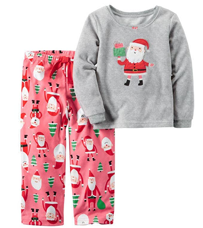 Santa Toddler Girl Christmas Pajamas by Carter's