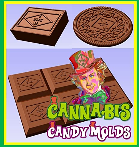 Al por mayor marihuana/Pot/cannabis Candy Chocolate moldes – Barra, cuadrado,