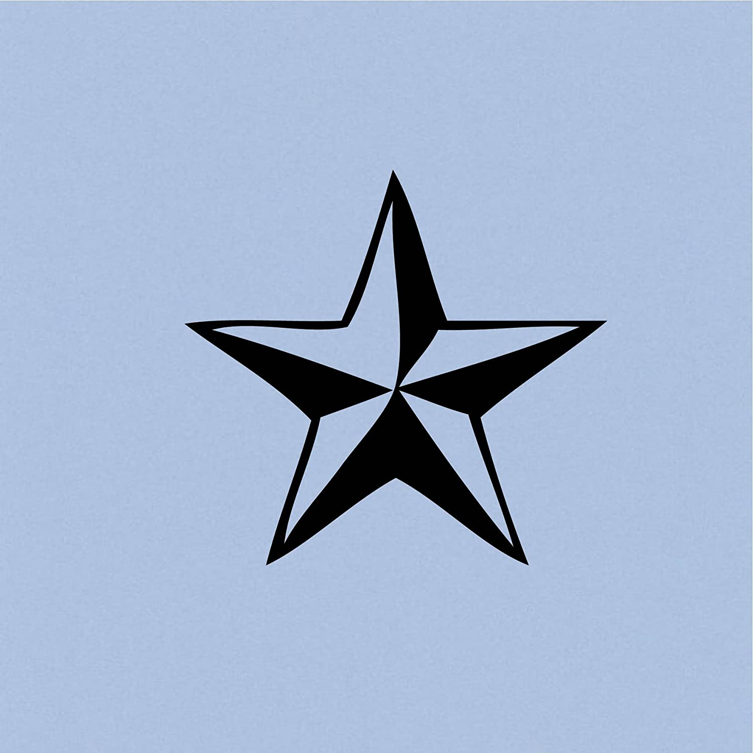 "Nor Cal Star (Black 5"") Vinyl Decal Sticker for Car Automobile Window Wall Laptop Notebook Etc.... Any Smooth Surface Such As Windows Bumpers"