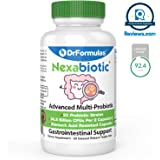 DrFormulas' Best Probiotics for Women & Men | Nexabiotic Multi Probiotic with Saccharomyces Boulardii, Lactobacillus Acidophilus, B. infantis, Prebiotic 60 Capsules (Not Pearls)