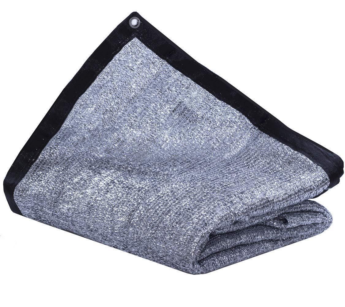 JTsuncover- Aluminet 85% - Heavy Duty Shade Cloth Mesh Sun Block Fabric Sun Reflect Pet Shade - with Grommets - 6.5 ft x 12 ft