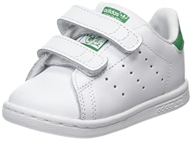 reputable site fc3b2 2ba22 adidas Stan Smith CF Baskets Mixte Enfant, Blanc Footwear White Green, 27 EU