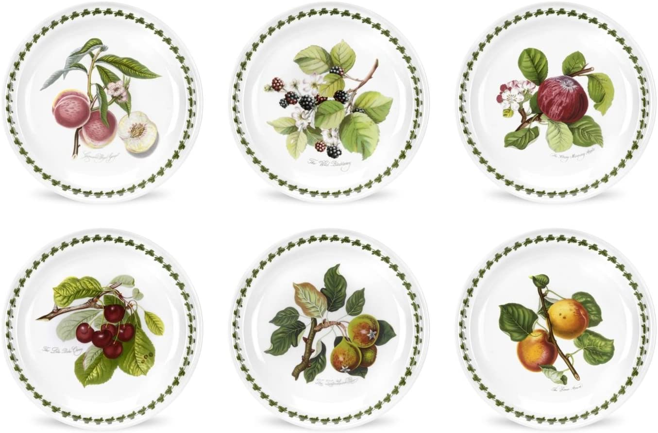 Portmeirion Pomona Bread and Butter Plate, Set of 6 Assorted Motifs