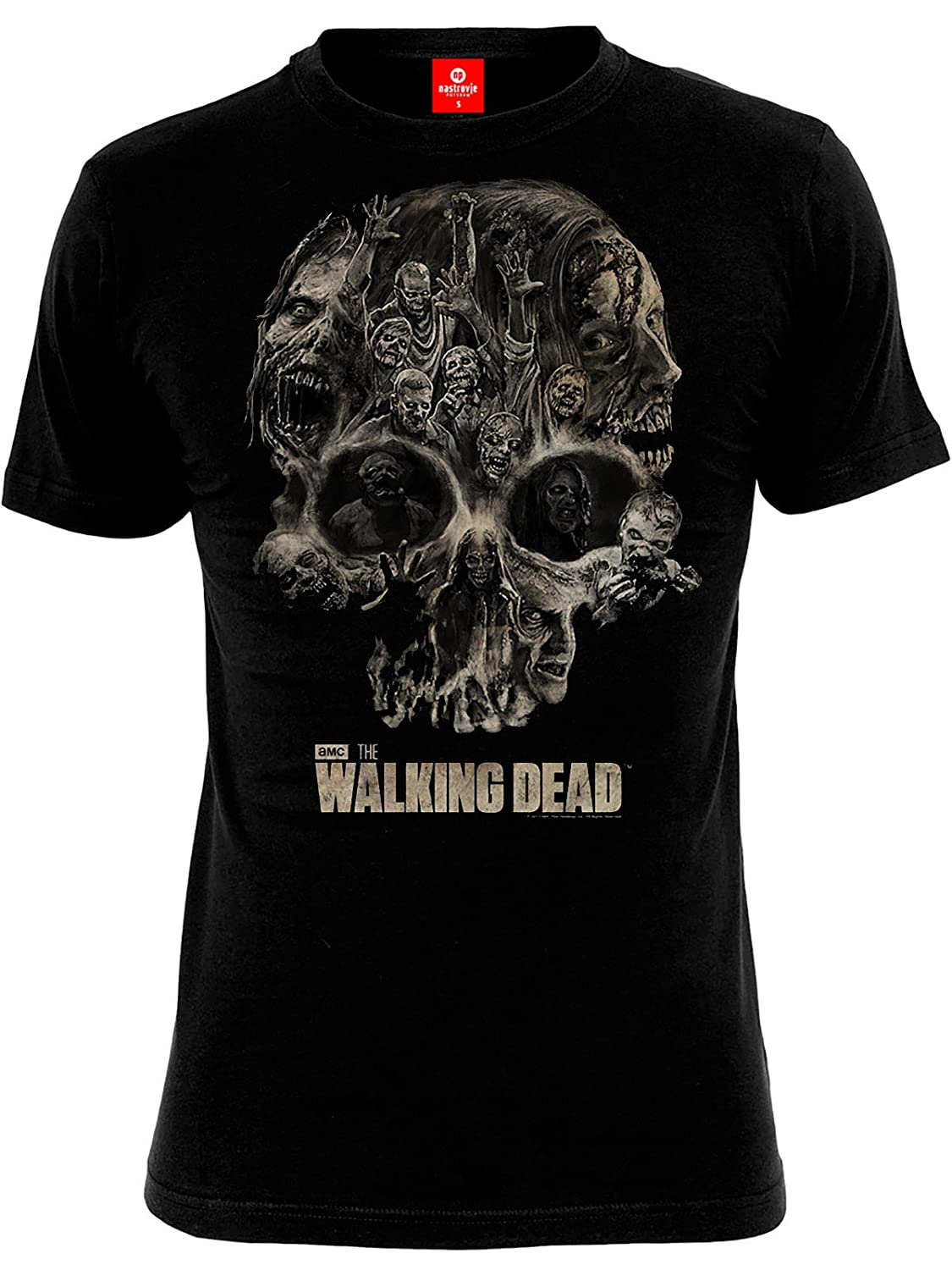 The Walking Dead Skull Camiseta Negro