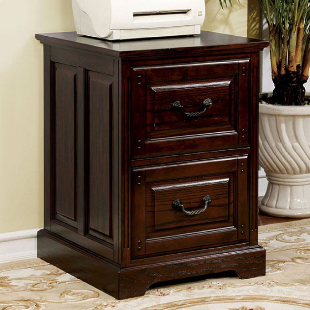 Furniture of America CM-DK6384C Tami Dark Walnut File Cabinet Miscellaneous-Home Office Desk