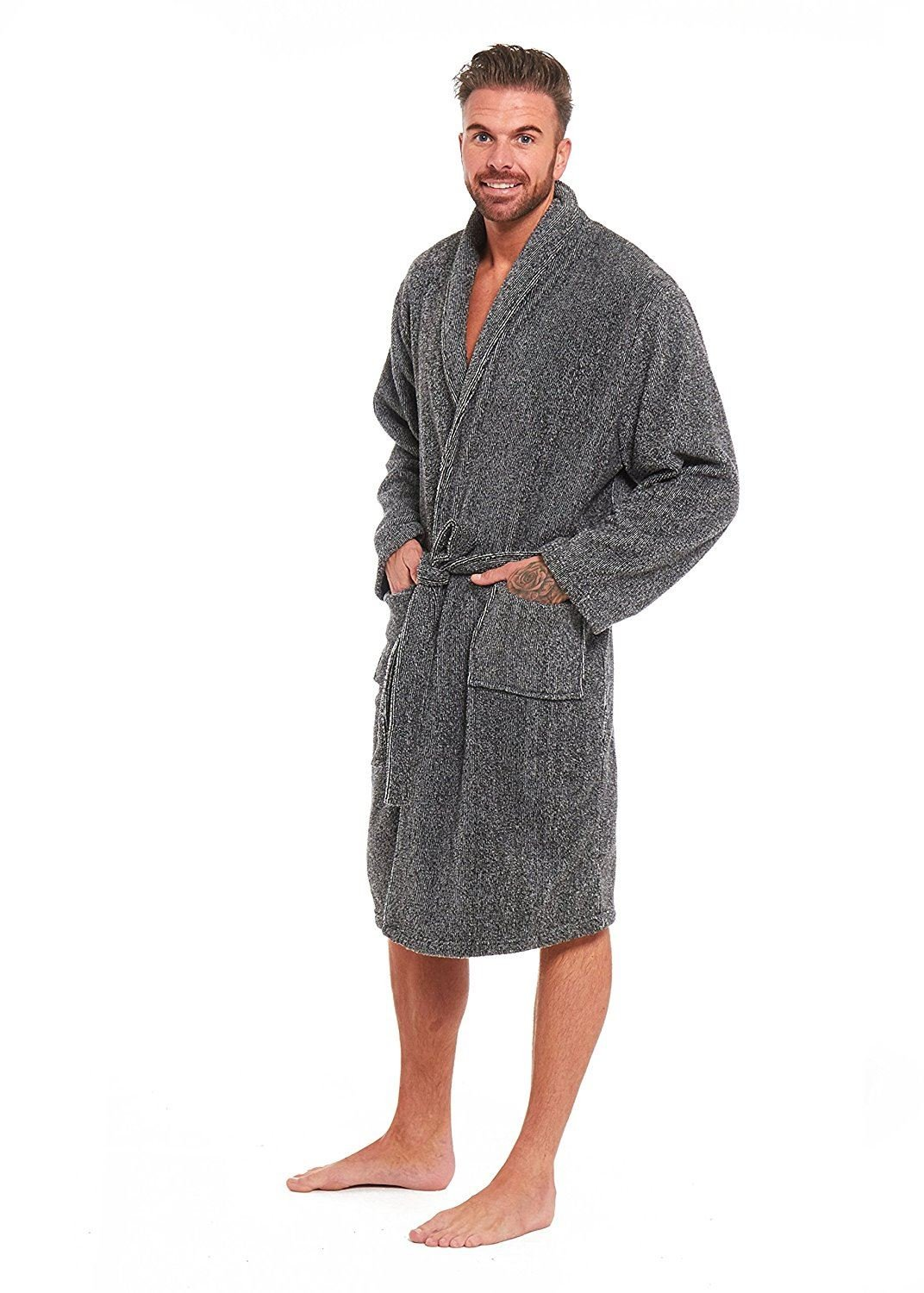 6d6d556aef5a Mens Luxury Super Soft Fleece Dressing Gown Bath Robe Hooded Thick Warm  Snuggle Style It Up larger image