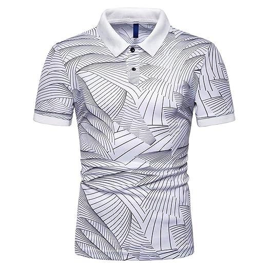 e63e91085b9e Fashion Men's Business Golf Polo Shirt, MmNote Textured Design Lapel Summer  Men's Half Sleeve T