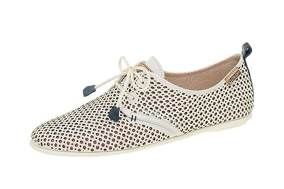 Pikolinos Calabria-917-4549- Zapatos de cordones para mujer (37, WHITE)