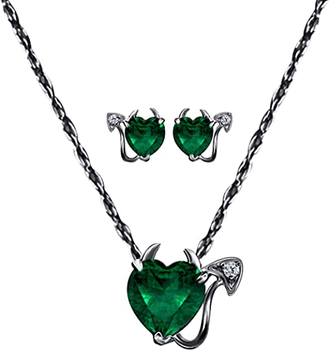 Green Jade Heart Shape Silver emerald Pendant //necklace