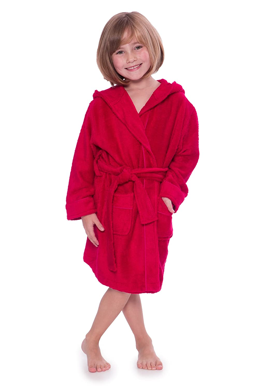 086cec25bb Amazon.com  Kid s Hooded Terry Cloth Bathrobe - Cozy Robe by for Kids  Texere (Rub-A-Dub)  Clothing