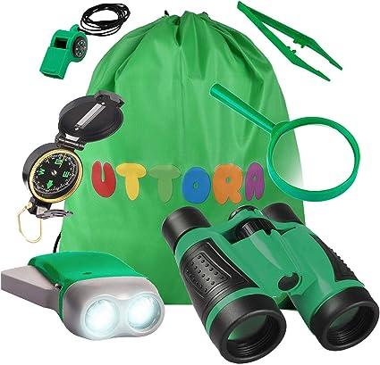 UTTORA Kids Binoculars Toy Set Outdoor Exploration Best Gift for 3 4 5 Brand n