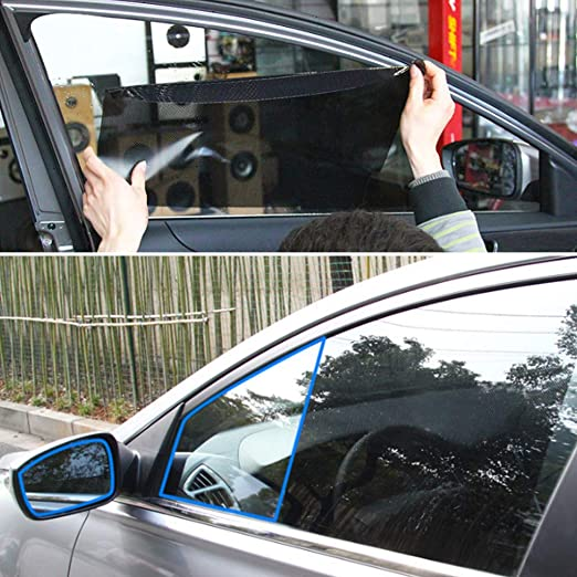 BaoST 2 Pcs Car Side Window Static Cling Films Stickers Sun Shade Stickers UV Protection Shield Visor UV Rays Protector Car Windshield Sunshade for Pet Baby Protection