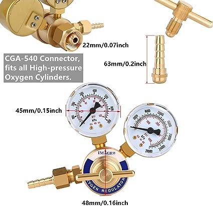 Oxygen Acetylene Regulators Welding Gas Gauges F Torch Cutting Kits CGA540//510 C