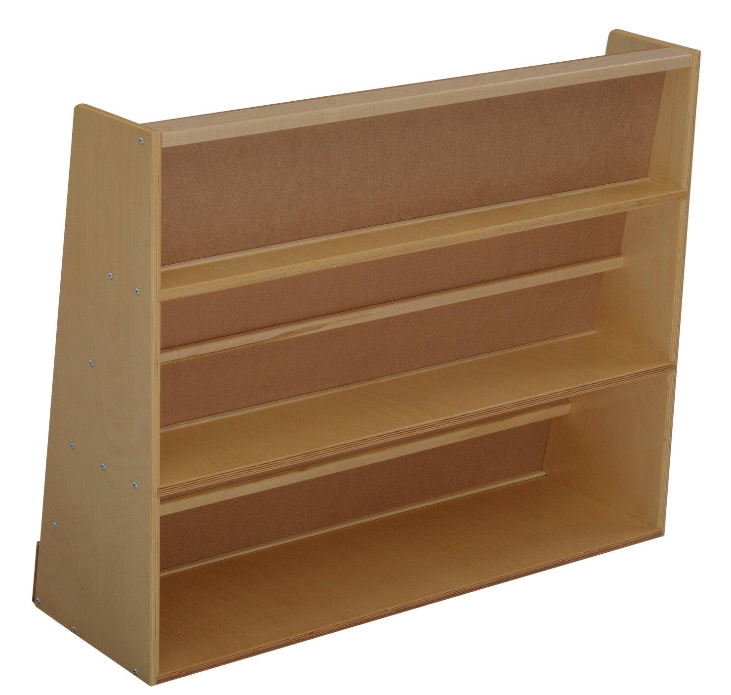 Bird in Hand 068675 Durable Book Display Stand, 5-Shelves, All-Birch Veneer Panel, 4-Coat UV Acrylic, 29'' x 36'' x 12'', Natural Wood Tone