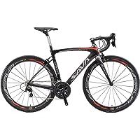 Vélos de Route Carbone, SAVA HERD6.0 700C Velo de Course Homme 22 Vitesses Shimano 105 7000 Group et Selle fizik Route